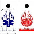 Fire Police Firemen Cornhole Board Decals Sticker 7