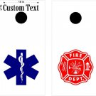 Fire Police Fireman Cornhole Board Decals Sticker 9