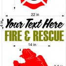 Fire Police Firemen Cornhole Board Decals Sticker 11