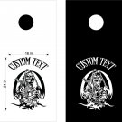 Skull Joker Grim Reaper Cornhole Board Decals Stickers