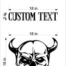 Skull Joker Devil Cornhole Board Decals Stickers
