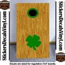 Irish Clover Rings Cornhole Board Decals Stickers H1