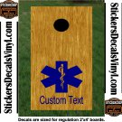 Fire Police Dept Firemen Cornhole Board Decals Sticker