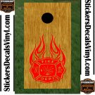 Fire Police Firemen Cornhole Board Decals Sticker 8