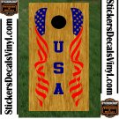 USA Patriotic US Stars Cornhole Board Decals Sticker 6