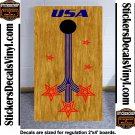 USA Patriotic Stars US Cornhole Board Decals Stickers 2
