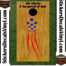 USA Patriotic US Cornhole Board Decals Stickers 3