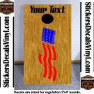 USA Patriotic US Cornhole Board Decals Stickers 8B