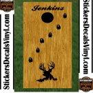 Deer Buck Hunting Cornhole Board Decals Stickers 3