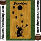Deer Buck Hunting Cornhole Board Decals Stickers BO2