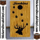 Cornhole Decals Deer Buck Hunting Board Stickers BO3