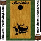 Elk Buck Hunting Cornhole Board Decals Stickers BO5