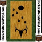 Deer Hunting Cornhole Board Decals Stickers BO7