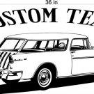 55 Chevy Nomad Auto Car Vinyl Wall Art Sticker Decal