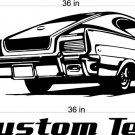 66 Rambler Auto Car Vinyl Wall Art Sticker Decal