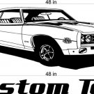 69 Pontiac GTO Auto Car Vinyl Wall Art Sticker Decal