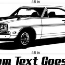 70 Plymouth GTX Auto Car Vinyl Wall Art Sticker Decal