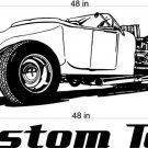 Rat Rod Auto Car Vinyl Wall Art Sticker Decal