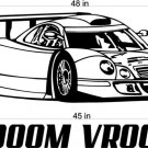 Race Car Racing Auto Car Vinyl Wall Art Sticker Decal