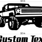 Monster truck Auto Car Vinyl Wall Art Sticker Decal 2