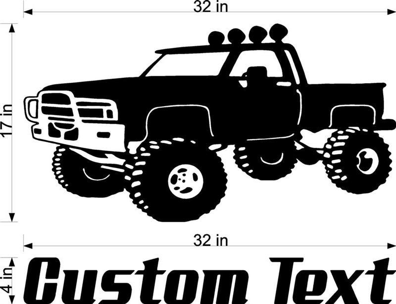Monster truck Auto Car Vinyl Wall Art Sticker Decal 3