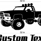 Monster truck Auto Car Vinyl Wall Art Sticker Decal 3