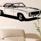 69 Chevy Camaro Auto Car Vinyl Wall Art Sticker Decal