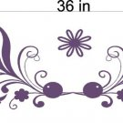 Floral Flowers Window Treatment Vinyl Wall Decals 8