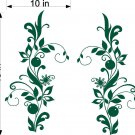 Floral Flowers Window Treatment Vinyl Wall Decals 11