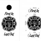 Fire Police Firemen Cornhole Board Decals Sticker 13BB