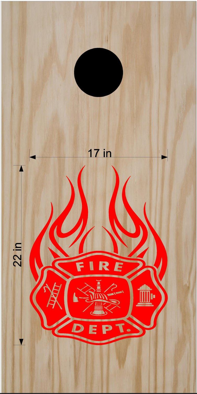 Fire Police Firemen Cornhole Board Decals Sticker FP99
