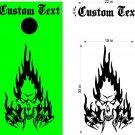 Custom Cornhole Board Decals Stickers Skulls & Jokers 5