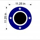 Stars Cornhole Board Decals Stickers Circle and Lines HD02