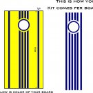 Stripes Cornhole Board Decals Stickers Circle and Lines 02