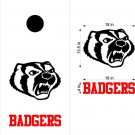 Badgers Cornhole Board Decals Stickers Sports Teams Mascots