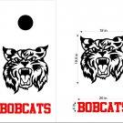 Bobcats Cornhole Board Decals Stickers Sports Teams Mascots