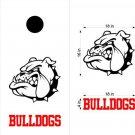 Bulldogs Cornhole Board Decals Stickers Sports Teams Mascots