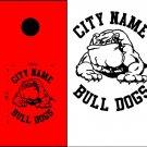 Bulldogs Cornhole Board Decals Stickers Sports Teams Mascots 3
