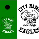 Eagles Cornhole Board Decals Stickers Sports Teams Mascots 3