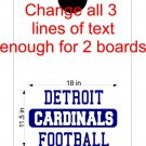Custom Text Cornhole Board Decals Stickers Sports Teams Mascots