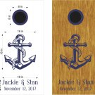 Anchor Wedding Anniversary Cornhole Board Decals Stickers Graphics Wraps