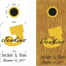 Initial Name Date Wedding Anniversary Cornhole Board Decals Stickers Graphics Wraps