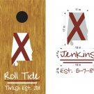 Roll Tide College Sports Cornhole Board Decals Stickers Graphics Wraps
