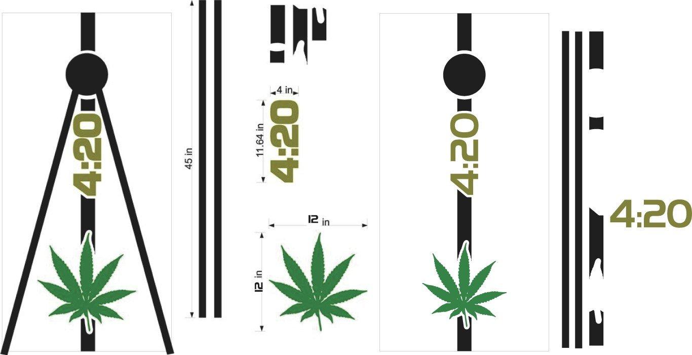 Medical Marijuana 420 Cornhole Board Decals Stickers Graphics Wraps