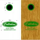 Callahan Cornhole Board Decals Stickers Graphics Wraps Bean Bag Toss Baggo