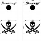 Davey Jones Pirate Cornhole Board Decals Stickers Graphics Wraps Bean Bag Toss Baggo