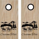 Equestrian Horse Riding Cornhole Board Decals Stickers Graphics Wraps Bean Bag Toss Baggo