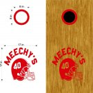 Football Helmet Team Cornhole Board Decals Stickers Graphics Wraps Bean Bag Toss Baggo