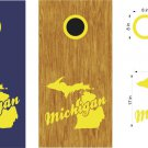 Michigan Cornhole Board Decals Stickers Graphics Wraps Bean Bag Toss Baggo