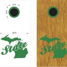 Michigan State Cornhole Board Decals Stickers Graphics Wraps Bean Bag Toss Baggo